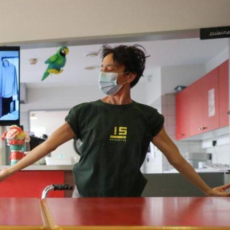 Rita Cioffi danse à l'Hôpital de Roubaix